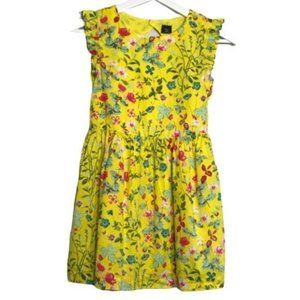 Gap Little Girls Golden Floral Summer Dress M (8)